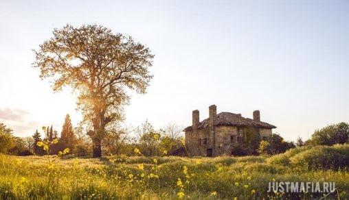 Парк, старинный дом