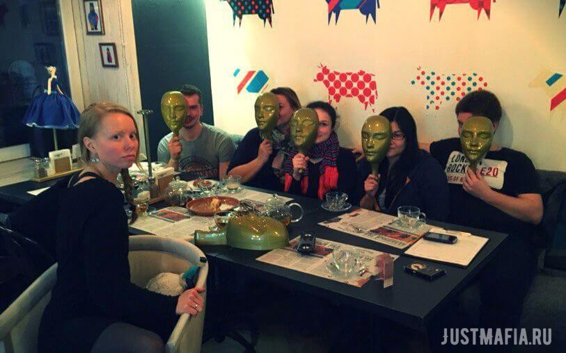 Игроки, маски, ресторан Калашный ряд, ведущая Ольга Дутова
