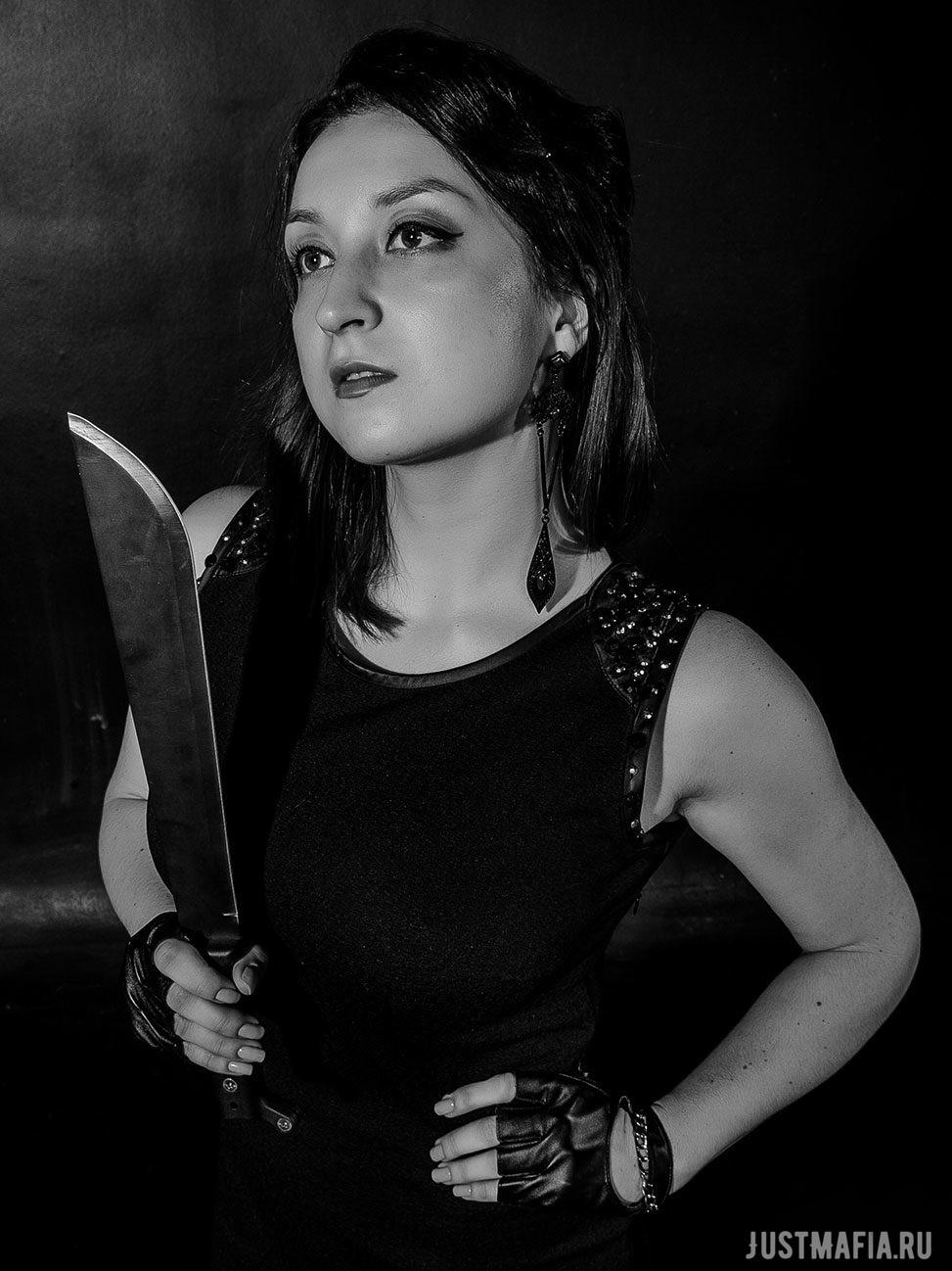 Ведущий Мафии Анастасия с мачете