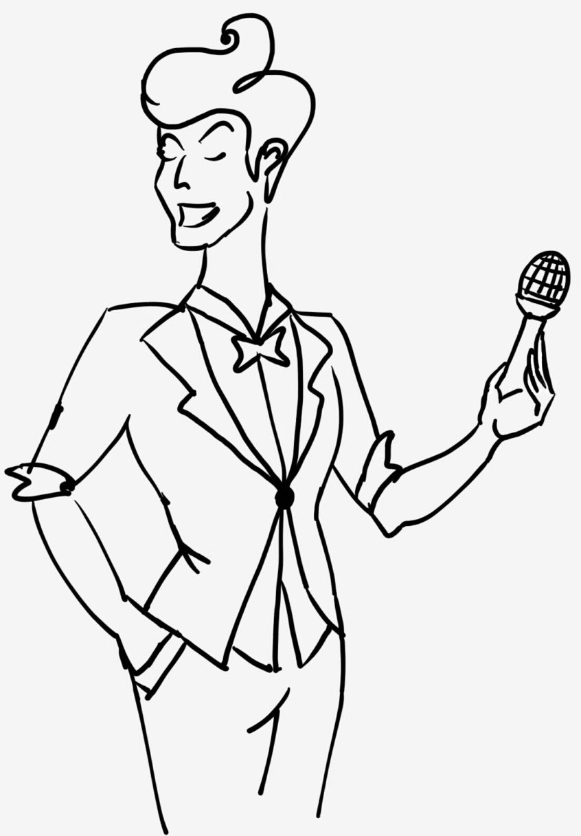 Серёжа с микрофоном