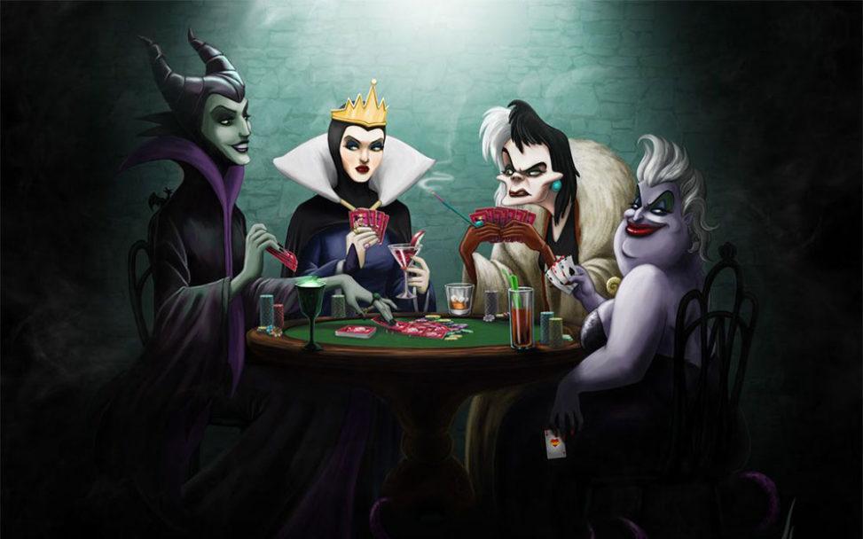 Отрицательные диснеевские героини играют в карты